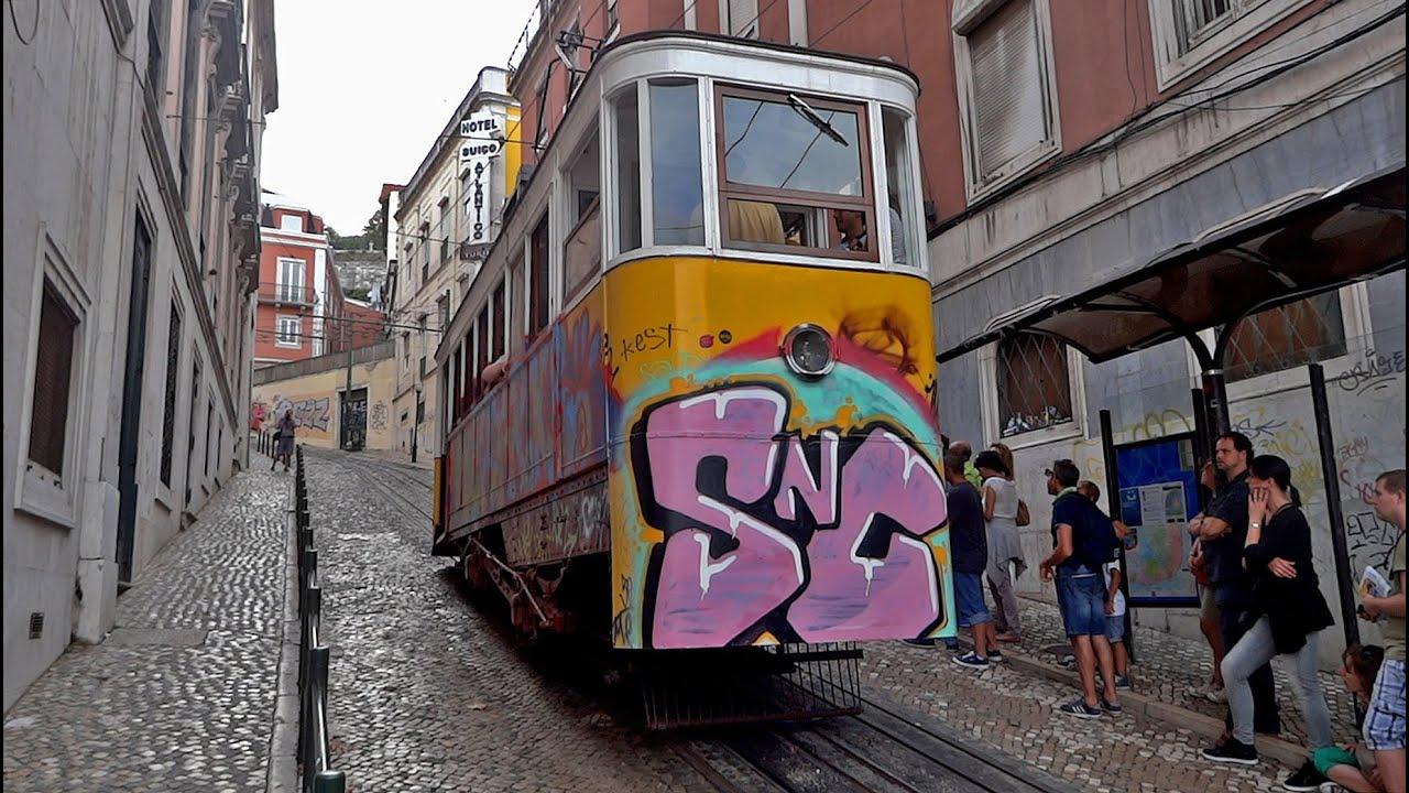 Lisbon Funicular Elevador Da Gl 243 Ria Youtube