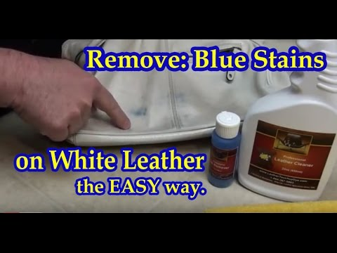 how to get rid of ink marks on leather sofa oversized set remove blue stains from white youtube