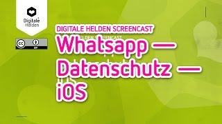"""Onlinekurs """"WhatsApp, meine Freunde und ich"""" – Datenschutz iOS"""