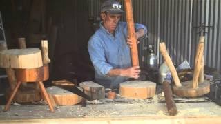 3 - Legged Log Stool Part 9: Using A Saw To Cut The Tenons