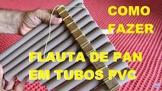 Como Fazer uma Flauta de pã com tubos PVC de 20 mm