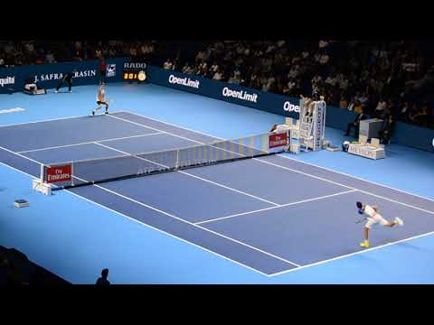 CILIC vs. FUCSOVICS last Points + MATCH POINT filmed by AUDIENCE Basel 2017 [HD 60fps]