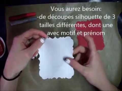 D coration de no l 2 rond de serviette marque place youtube - Bricolage marque place noel ...