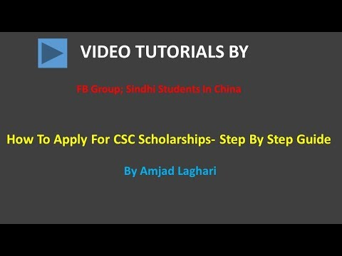 How To Apply For CSC Scholarships (Step By Step Guideline)
