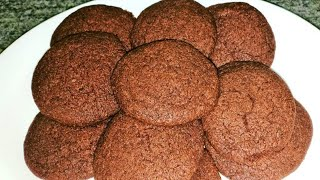 Homemade Simple Eggless Chocolate Cookies Recipe in Hindi