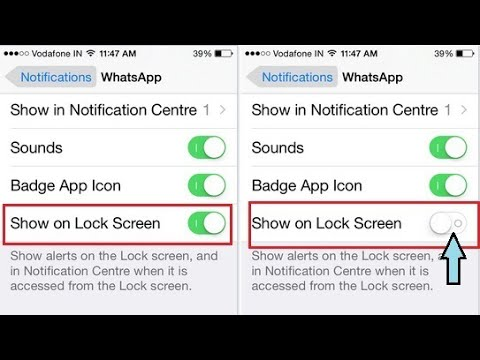 How to turn off lock screen notification (iPhone)