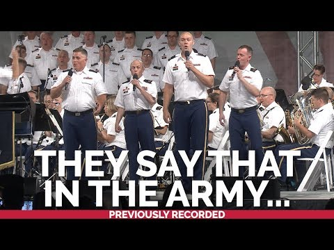 """The U.S. Army Chorus Performs A Popular Running Cadence """"They Say That In The Army"""""""