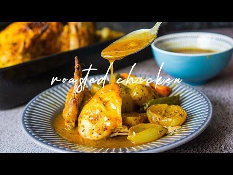 Whole Roast Chicken and Gravy ASMR | Ramadan Recipe Idea