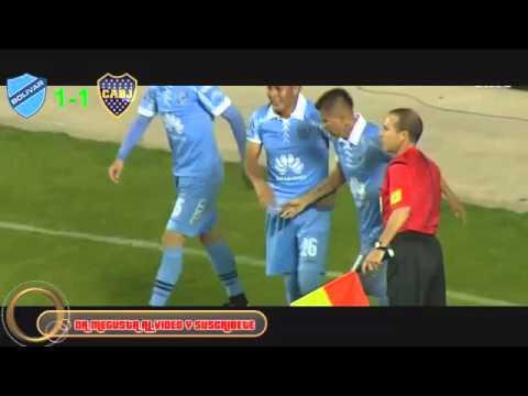 Gol de Bolívar a Boca Juniors en Copa Libertadores 2016 (Gonzalo Cobo - Radio Fides)