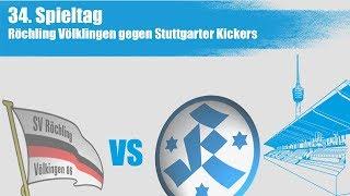 34. Spieltag, Röchling Völklingen vs Stuttgarter Kickers - Spielbericht+Interview