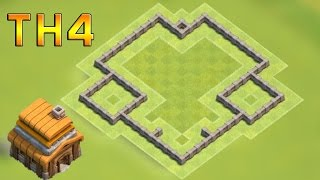 Clash of Clans (CoC) | Town Hall 4 Defense (TH4) BEST Farming Base Layout 2016