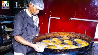 Indian Donuts Making For Breakfast - Street Food