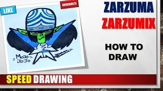 SPEED DRAWING HOW TO DRAW MOJO JOJO STEP BY STEP EASY AND FAST