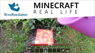 Minecraft Real Life - How to Make Obsidian - BrickRealGames