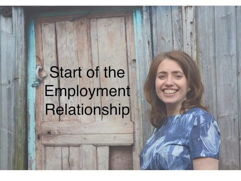 Start of the employment relationship