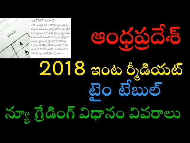 AP INTERMEDIATE 2018 EXAM TIME TABLE AND NEW GRADING SYSTEM COMPLETE INFORMATION || TECHREVIEWINGS