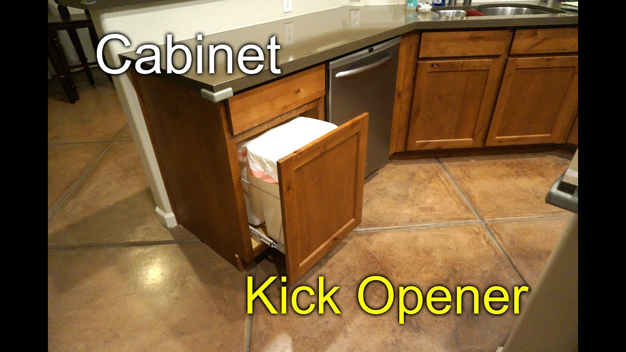 Cabinet Door Opener - Kick to Open