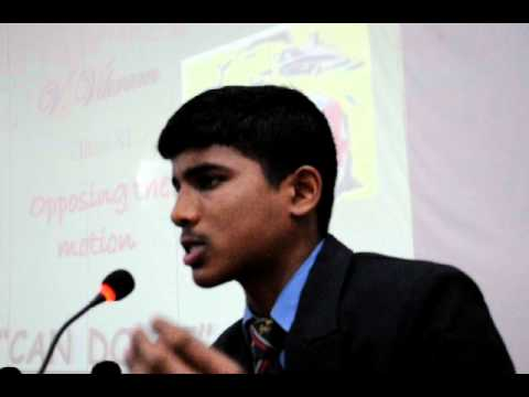 Sainik School Bijapur-South Zone-Debate, V Vikram,Amaravathinagar