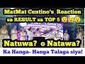 Reaction ni Matmat Centino sa Top 5   Pinalakpakan ng Madla   Malalang Laglagan sa Top 5  