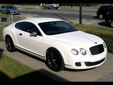 Bentley Continental Gt Total Car Wrap With Maxplus White Snake Skin