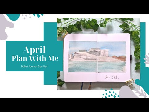 Plan With Me | April 2021 Bullet Journal Set-Up | Oslo Norway theme