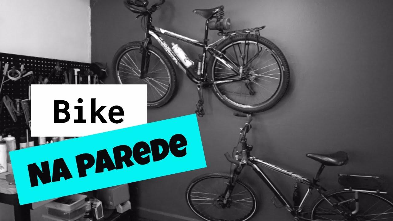 02bbf1298 Suporte de parede para bicicletas - YouTube