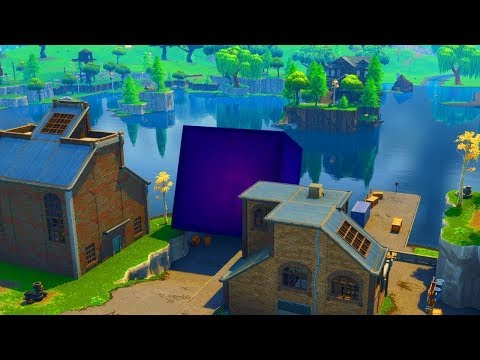 FORTNITE CUBE moving in LOOT LAKE VOLCANO! Cube Event Countdown Fortnite Battle Royale Live PS4