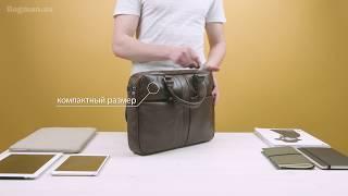"Обзор сумки для ноутбука Samsonite West Harbor Bailhandle 14,1"" Brown"