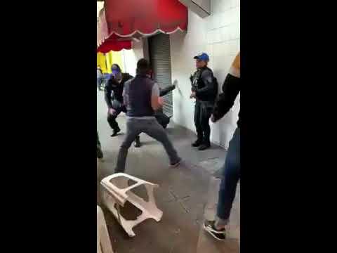 Revolcados y golpeados, así terminaron policías de la CDMX agredidos por 4 hombres ebrios