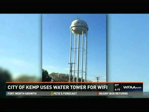 WFAA Dallas: One Ring Networks provides Kemp, Texas high speed Internet from water tank