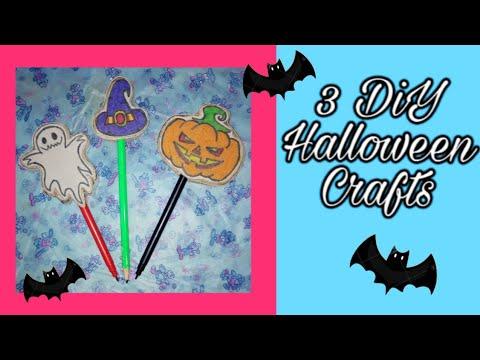 DIY Halloween School Supplies / How to make halloween pencil decor