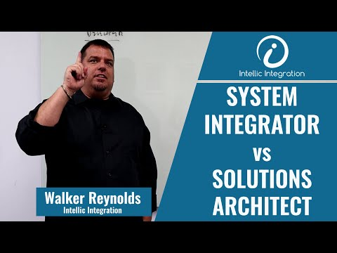 System Integrator Vs Solutions Architect