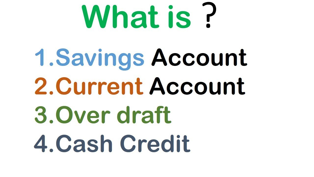 what is savings and current account in hindi difference between