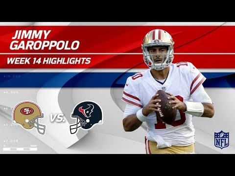 Jimmy Garoppolo Highlights vs. Texans! | 49ers vs. Texans | Wk 14 Player Highlights