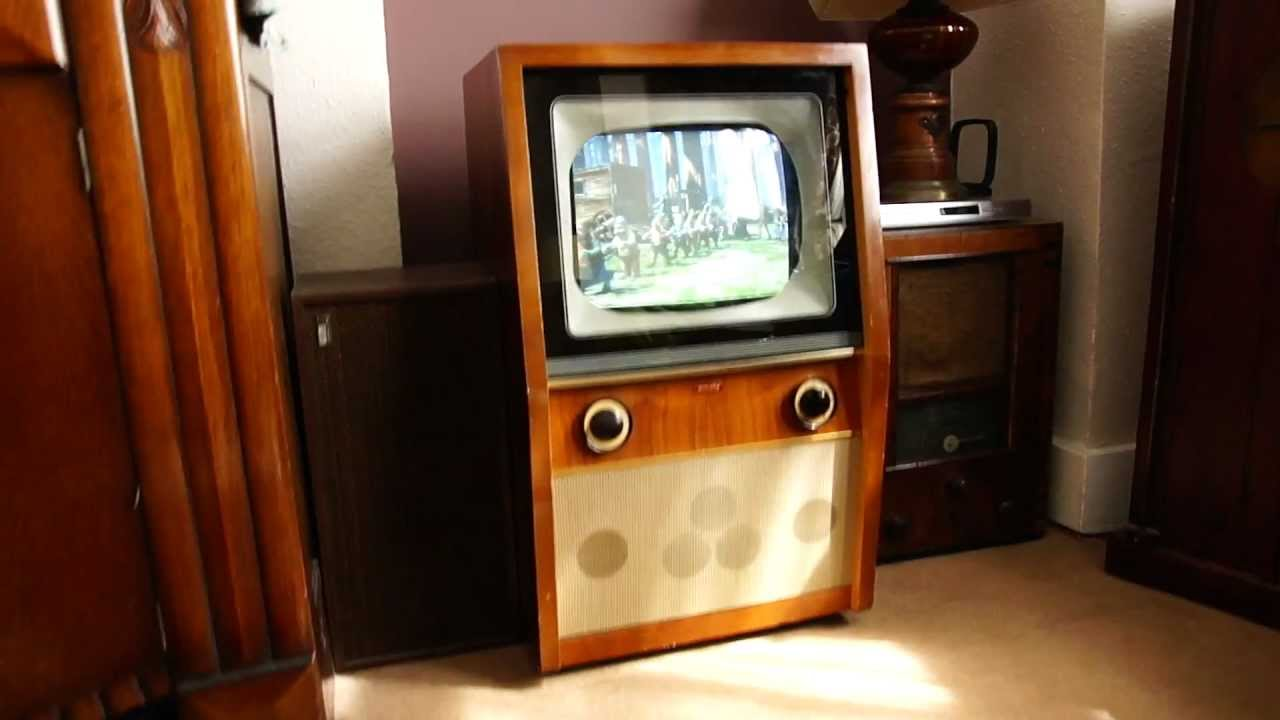 vintage 50 39 s tv working ebay sale youtube. Black Bedroom Furniture Sets. Home Design Ideas