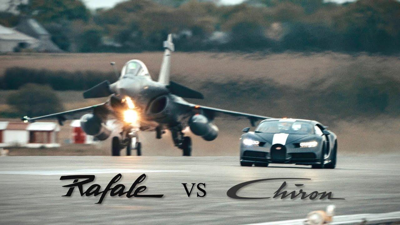 Download BUGATTI CHIRON Sport vs DASSAULT RAFALE !
