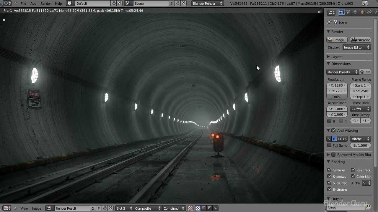 Create an Underground Subway Scene in Blender - Part 1 of