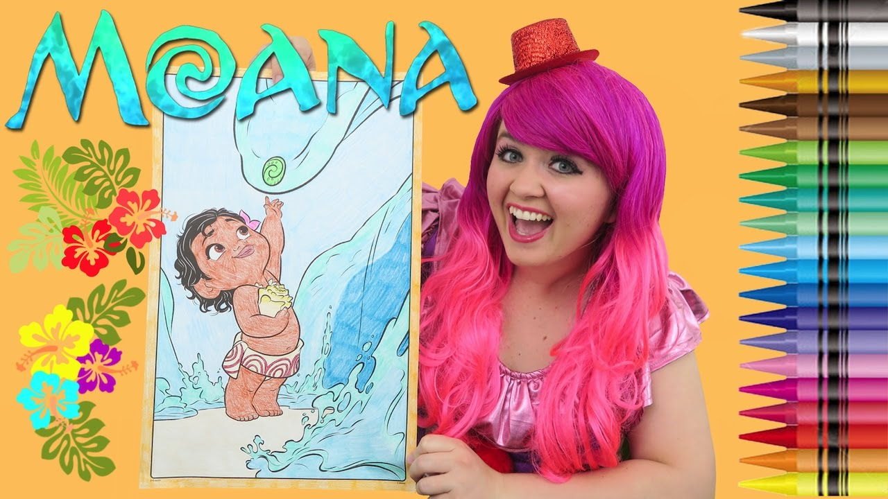 coloring baby moana disney moana giant coloring book page crayons coloring with kimmi the clown - Giant Coloring Book