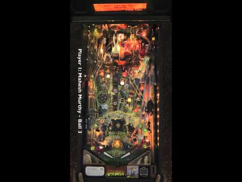 LORD OF THE RINGS pinball table (Stern 2003) - Pinburgh 2012 B Division Final (Game 1)