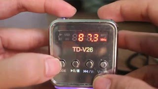 TD-V26 FM Player / Portable Speaker Music Player - BAHASA INDONESIA