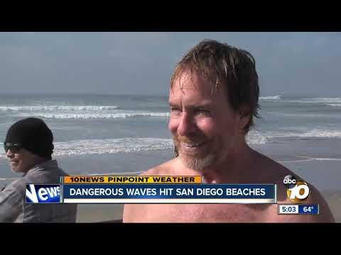 Dangerous waves hit San Diego