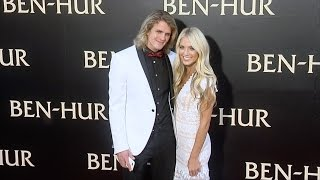 cole labrant savannah soutas ben hur los angeles premiere red carpet