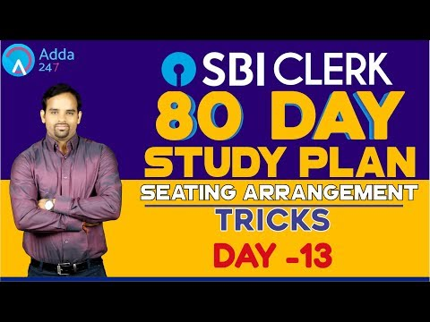SBI CLERK PRE 80 DAY STUDY PLAN - Seating Arrangement Tricks - DAY -13