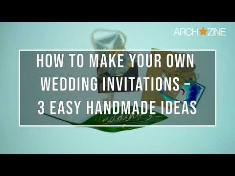 3 EASY DIY WEDDING INVITATIONS