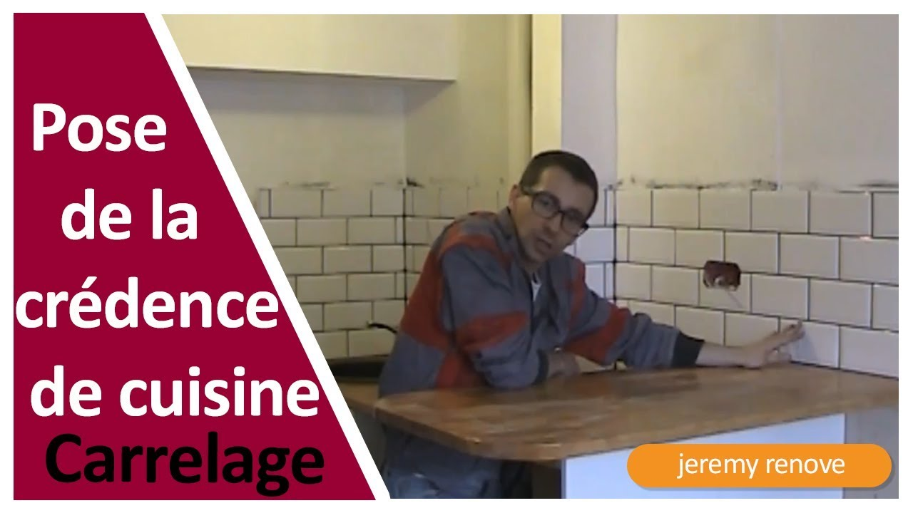 Pose de la cr dence cuisine youtube for Credence cuisine facile a poser