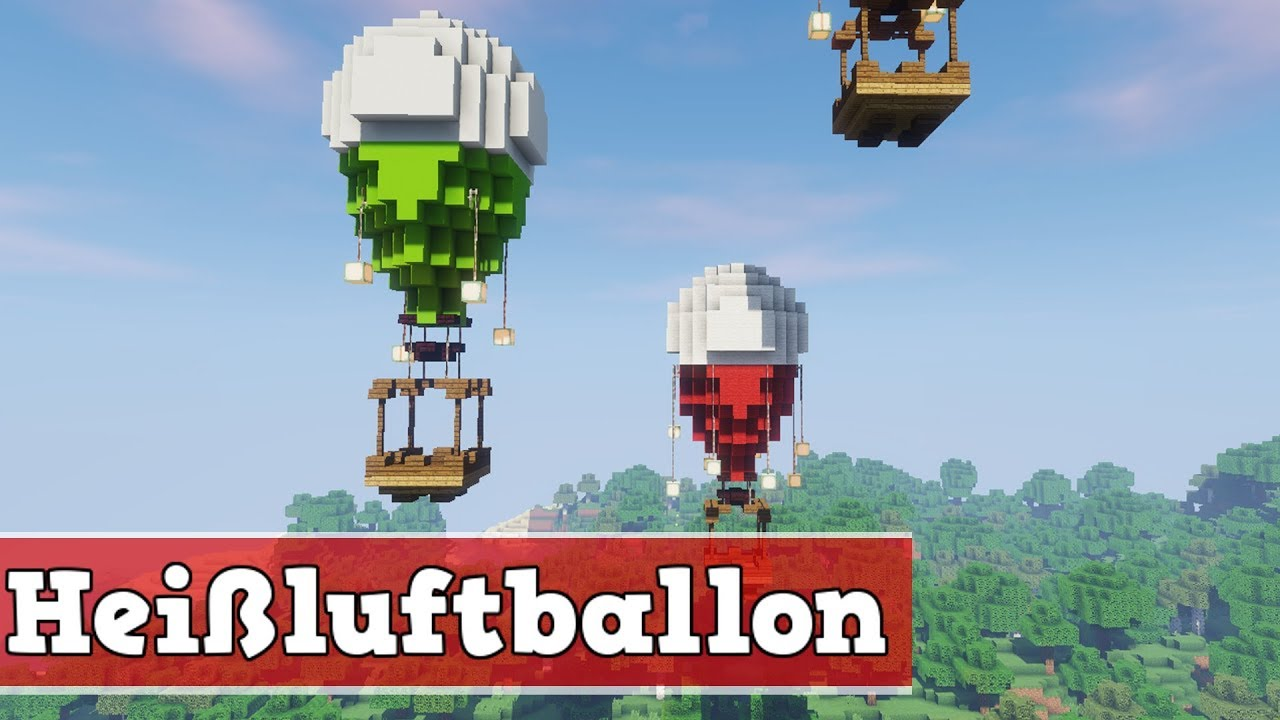 wie baut man einen hei luftballon in minecraft minecraft hei luftballon bauen deutsch youtube. Black Bedroom Furniture Sets. Home Design Ideas
