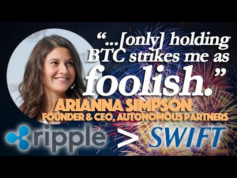 Ripple XRP: Ripple More Alluring Than SWIFT & Arianna Simpson's Altcoin Surge Prediction