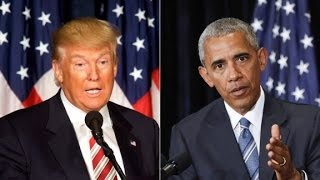Trump vs. the tape on Obama and the protester