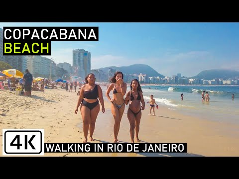 Walking Copacabana Beach   🇧🇷 Rio de Janeiro, Brazil   【4K】 2020