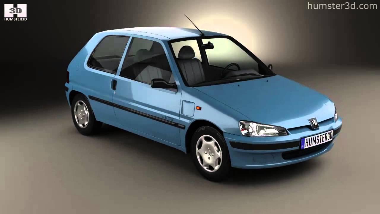 Peugeot 106 electric 3 door 1993 by 3d model store for 106 door